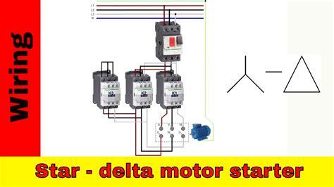 How Wire Star Delta Motor Starter Power Control