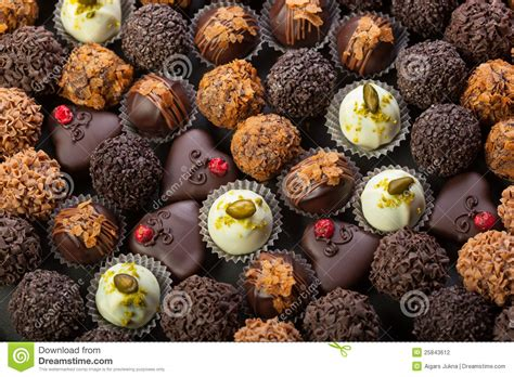 handmade chocolates stock photography image