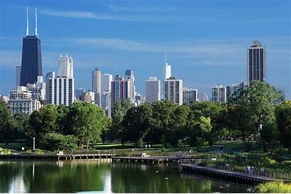 Chicago Cities Skyscrapers Usa Park Coast Parks