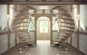 schwebende treppe kragarmtreppen aus holz beton glas und acryl sillertreppen