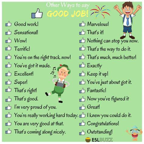 100 Ways To Say Good Job  Esl Buzz