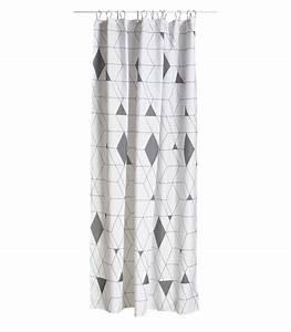 Rideau Gris Et Blanc : rideau de douche en polyester arlequin gris et blanc ~ Teatrodelosmanantiales.com Idées de Décoration