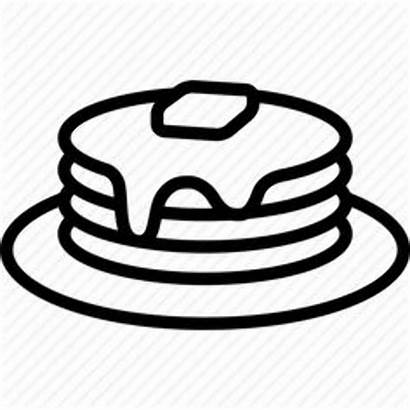 Clipart Silhouette Pancake Pancakes Syrup Clip Cartoon