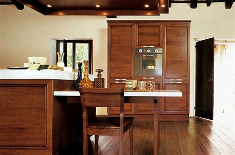 kitchen island with dining table attached certosa luxury kitchen gives timeless italian design a 9432