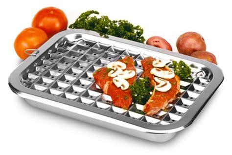 norpro stainless steel broiler pan  cutlery