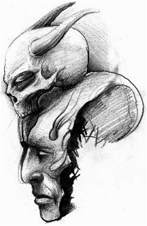 Demon Skull Tattoo Drawings
