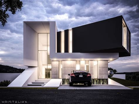 architectural house exle of stacked floor https aminkhoury com