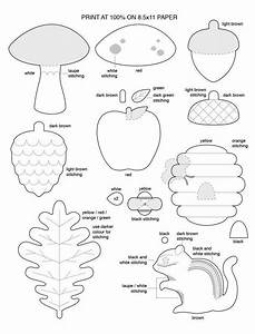 free template for felt woodland creatures pattern free With felt shape templates