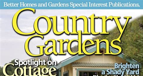 Sharon Lovejoy Country Gardens Magazine Features Our
