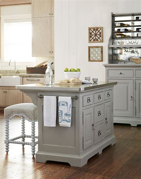 kitchen island furniture dogwood cobblestone kitchen island set from paula deen 1916