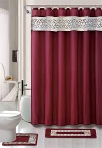 designer bathroom rugs home dynamix designer bath shower curtain and bath rug set db15n 201 nancy burgundy shower