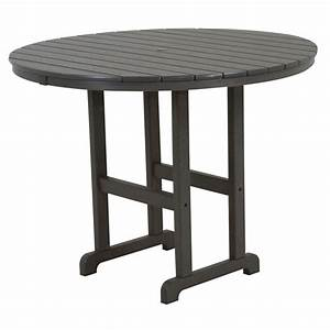 POLYWOOD® 38 inch Round Conversation Table | RCT38