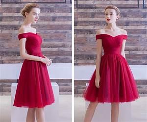 Robe Rouge Mariage Invité : robe rouge courte pour cocktail de mariage avec paule d gag e ~ Farleysfitness.com Idées de Décoration