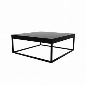 Table Basse Carree Metal Noir