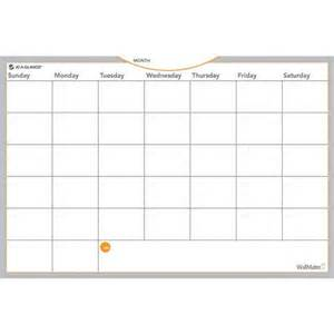 Small Monthly Dry Erase Undated Wall Calendar ...