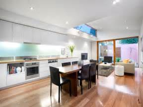 kitchen living ideas modern kitchen living kitchen design using floorboards kitchen photo 468735
