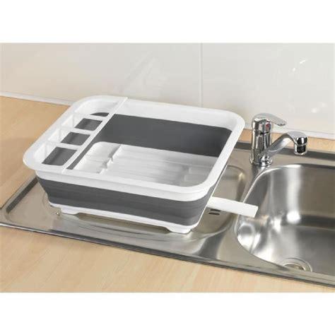 cuisine tefal égouttoir à vaisselle pliable gris gris blanc achat