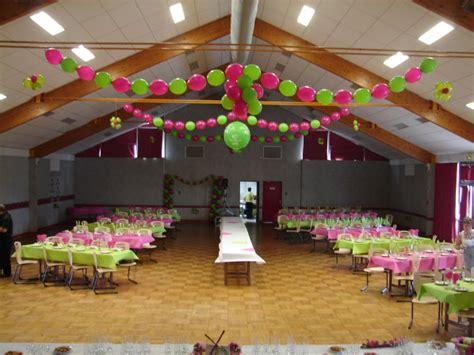 decoration ballon fuschia et vert salle des fetes b 233 d 233 e