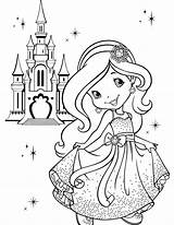 Coloring Pages Girly Printable Princess Disney 1000 Popular sketch template