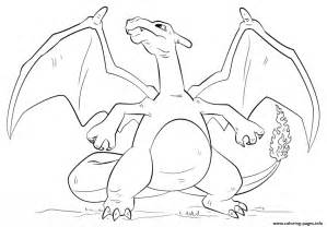 charizard pokemon go printable coloring pages book