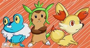 New Pokemon Starters (Froakie, Chespin, Fennekin) by ...