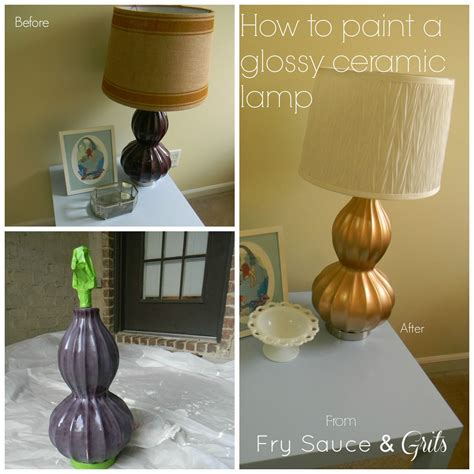 How To Paint A Glazed Ceramic Lamp Tutorial  Fry Sauce