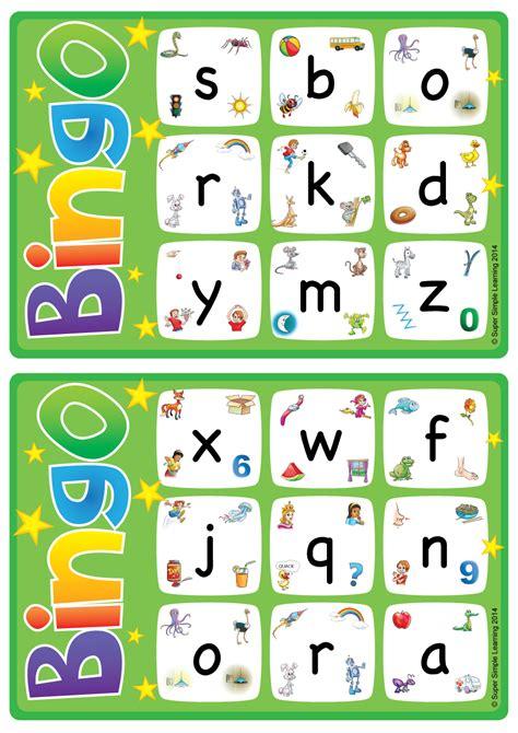 alphabetvocabulary bingo game lowercase letters