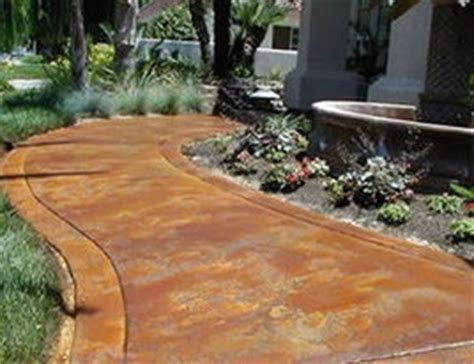 acid washedstained concrete  pathway