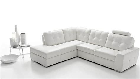canap en cuir blanc canap angle en simili cuir vachette blanc