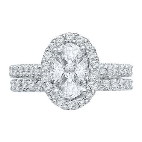 ct tw oval multi diamond center engagement ring set