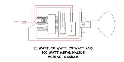 wiring         metal halide ballast