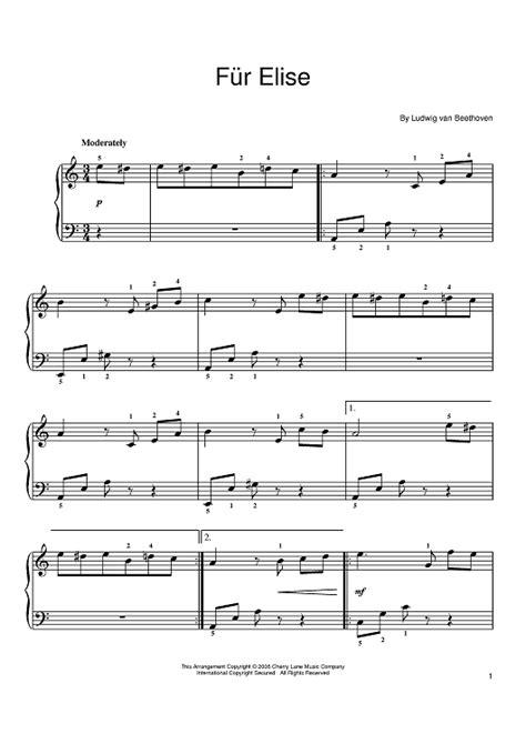 Free download piano sheet music fur elise