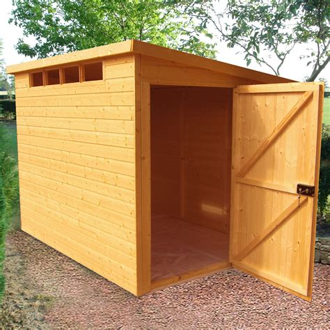security cabin pent shiplap wooden shed  assembly