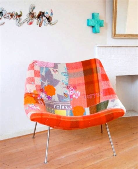 picture of patchwork armchair