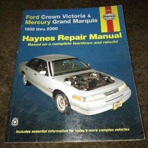 car repair manuals download 1988 mercury grand marquis user handbook haynes repair manual ford crown victoria mercury grand marquis 1988 2000 ebay