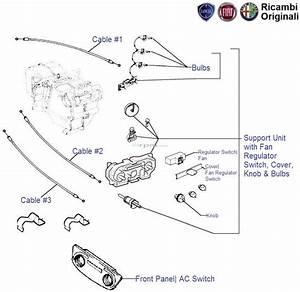 Fiat Palio  Ac Control Panel  Knob  Cable