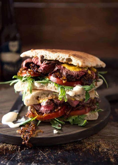 Steak Sandwich   RecipeTin Eats