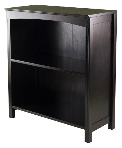 26 inch wide desk winsome terrace storage shelf 3 tier wide in espresso 26