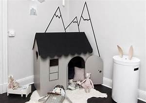 comment fabriquer une cabane en carton tuto et plusieurs With fabriquer une chambre noire en carton