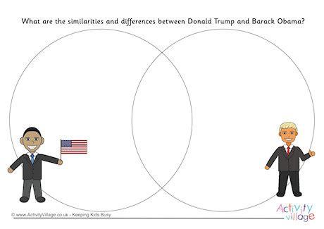 compare  contrast trump  obama venn diagram