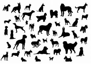 Dog Silhouettes - Download Free Vector Art, Stock Graphics ...