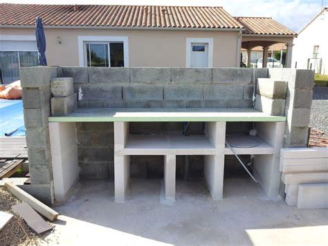fabriquer cuisine exterieure plan de travail exterieur en beton pour cuisine exterieure