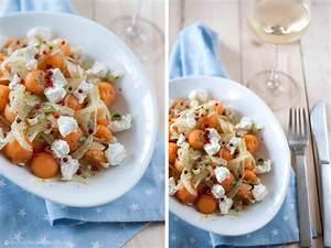 Melone Mit Schafskäse : fenchel salat mit melone ziegenk se und minze oder ich schwebe im 7 salat himmel rezepte ~ Watch28wear.com Haus und Dekorationen