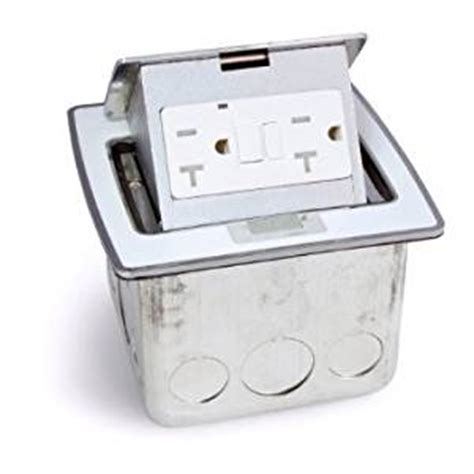 countertop electrical receptacles lew electric pufp ct wt countertop box pop up w 20a gfi