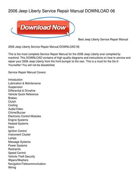 Jeep Liberty Service Repair Manual Download