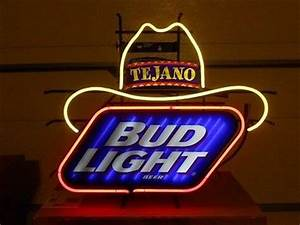 Bud Light Beer Tejano Cowboy Hat Neon Sign Brand New in