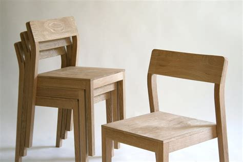 made stackable wood dining chair by kapel designs