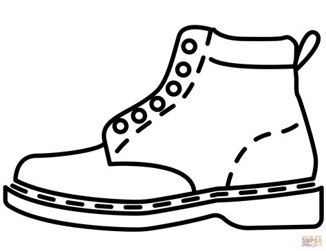 Coloring Leather by Leather Boot Coloring Page Free Printable Coloring Pages