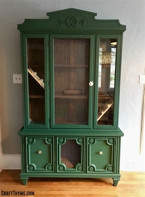 Indoor Rabbit Hutch - make a indoor rabbit hutch from a china cabinet craft thyme