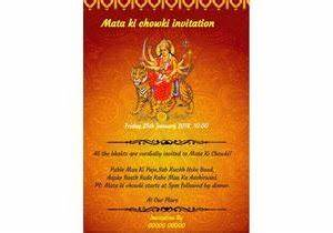 invitation card ki photo gallery invitation sample and With wedding invitation for mata ki chowki